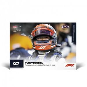 2021 Topps Now F1 #3 Yuki Tsunoda Points in 1st Formula One Race AlphaT PRESALE