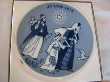 VINTAGE Christmas Julen 1975 JESUS ON ROAD TO TEMPLE Plate Made in NORWAY