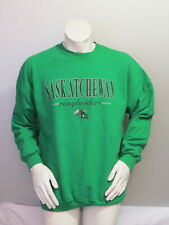 Vintage Saskatchewan Roughriders Sweater - Script with Helmet Graphic - Men's XL