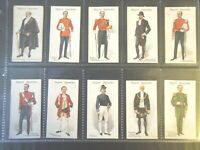 1911 John Player CEREMONIAL AND COURT DRESS set 25 cards Tobacco Cigarette