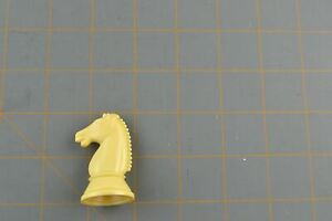 Whitman Chess Horse Knight Piece White Vintage Plastic Hollow Replacement Part