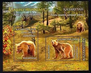 2018. Kazakhstan.  Himalayan Brown Bear. S/sheet. MNH
