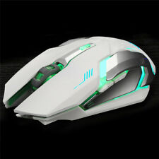 Rechargeable Wireless X7 LED Backlit Optical USB Ergonomic Gaming Mouse White