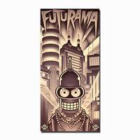 Metropolis Futurama Classic Cartoon Anime Silk Poster Art Prints 12x25 inches