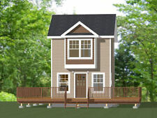 16x16 Tiny House -- PDF Floor Plan -- 462 sq ft -- Model 9