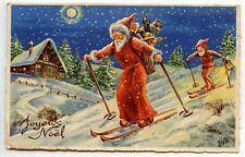 JUB.  PERE NOEL SANTA CLAUS JOYEUX NOEL HAPPY CHRISTMAS.LUTIN.GNOME.ELFE.
