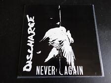 LP GATEFOLD DISCHARGE - NEVER AGAIN / excellent état