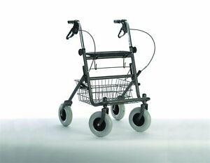 Coopers Rollator Rolling 4 Wheel Walker with Shopping Basket 10907C Gun Metal