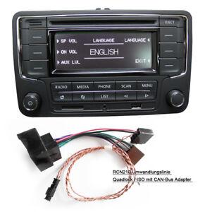 Autoradio RCN210 BT CD USB AUX SD VW GOLF TOURAN JETTA POLO Caddy mit CAN Kabel