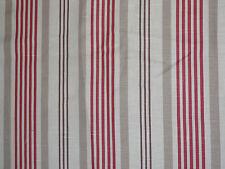 "CLARKE & CLARKE ""ELEANOR"" 2.2 metres curtain fabric RED/BEIGE/CREAM"