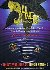 JUNGLE NATION Rave Flyer Flyers 23/6/95 A4 The Lazerdrome Peckham London SE15