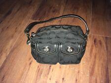 COACH Black Turn Lock Small Wristlet Clutch Bag Nylon Beautiful