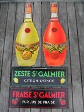 DISTILLERIE RAVEL ST GALMIER LOIRE LOT 4 CARTONS PUBLICITE TBE VOIR DETAILS