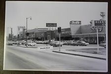 """1966 Strip Mall Stores 12 By 18"""" Black & White Picture"""