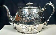 Beautiful Vintage Georgian Style Silver Plated Tea Pot SB&M Birmingham c1960