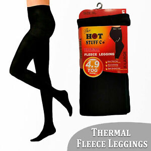 Women Ladies Thermal Leggings Fleece Lined Tummy Control 4.9 TOG Rated SM-3XL UK