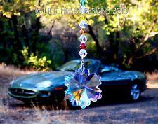 Crystal Aurora Borealis Snowflake Chakra Car Charm SunCatcher Lilli Heart Design