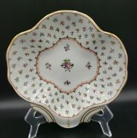 Beautiful Carl Thieme Dresden Embossed Shell Dish Floral EXCELLENT