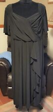 MAGGIE BARNES Size 18W Plus Size Ruched Black Dress Stretch Made in USA