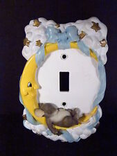 Charming Tails Moon & Stars Switch Plate Cover Pink or Blue Mouse