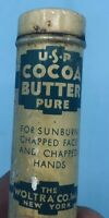 Vintage Woltra Co. Inc. New York USP Cocoa Butter Pure 1 Oz. Tin