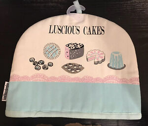 INSULATED TEAPOT TEA POT COSY COVER COTTON CAKES AFTERNOON TEA COSIES KITCHEN