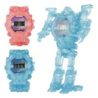 Light Transformation Wristwatch Deformation Robot Electronic Watch Toy for Gifts