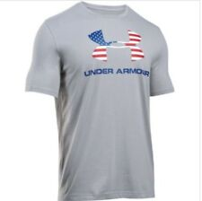 Under Armour Mens Sportstyle Short Sleeve T Shirt American Flag Logo
