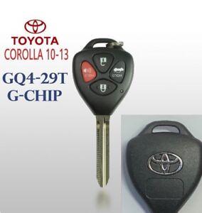 Toyota Corolla 2010-2013 Remote Head Key GQ4-29T (G-Chip) Top Quality USA Seller