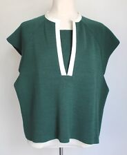 Marni Mainline Summer 2012 Green Knit Top Pvc Bordure & à Rayures Dos Taille IT40 UK 10