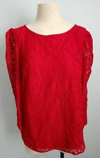 NYC Red Lace Blouse- Size XL