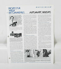 Hasselblad Automatic Bellows Sales Sheet/124819