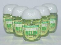 5 BATH BODY WORKS CUCUMBER MELON POCKETBAC ANTI BACTERIAL HAND GEL SANITIZER LOT
