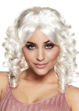 Womens Marie Antoinette White Ringlet Curly Wig