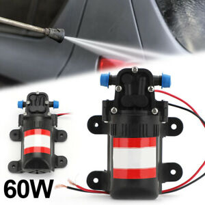 12V Water Pump High Pressure Diaphragm Self Priming 70PSI 3.5L/Min RV Caravan