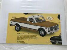 Danbury Mint 1972 Chevrolet Cheyenne #2 * Original Sales Ad, Title & Care Only *