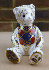 ROYAL CROWN DERBY Diamond Jubilee Teddy Bear Limited Edition Paperweight