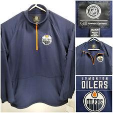 NWT Edmonton Oilers Mens 2XL XXL Quarter Zip Pullover G-III by Carl Banks
