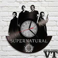 Supernatural Sam Dean Castiel Crowley Dark Movie Wall Clock Home Decor Playroom
