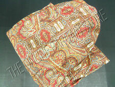 Pottery Barn Lara Paisley Floral Bed Sofa Bolster PILLOW COVER 12x60 Red
