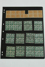 WWII German Stamps  Two page LARGE grouping on many stamps!!!!