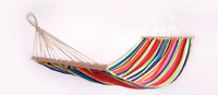 Adult Cotton Hammock With Spreader Bar Hiking Camping Travel Swing Hanging Bed