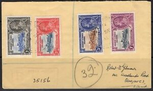 GILBERT & ELLICE IS. SG36/9 1935 SILVER JUBILEE FINE USED ON COVER