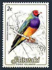 Aitutaki 322,MNH.Michel 505. Local birds 1984.Poephila Gouldiae.