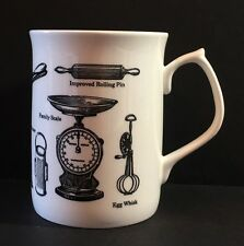 Royal Kingston Bone China England Vintage Kitchen Tools Gadgets Cup Schwarz Weiß