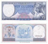 Suriname 5 Gulden 1963 P-120b Banknotes UNC