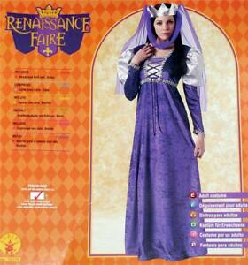 MEDIEVAL RENAISSANCE Maiden Womens QUEEN COSTUME New