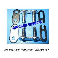 420 Chain Master Link, 2 pack, Honda, Yamaha, ATV, Quad, Dirtbike 50cc 70cc 110