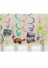 80s PARTY A TEMA Swirl Decorazioni Pk12