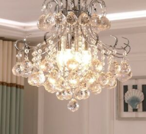 Crystal Chandeliers Living Room Lamps Pendants Style Elegant Home Hanging Decors